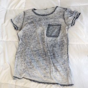 Burnout Gray Slub Tee from F21